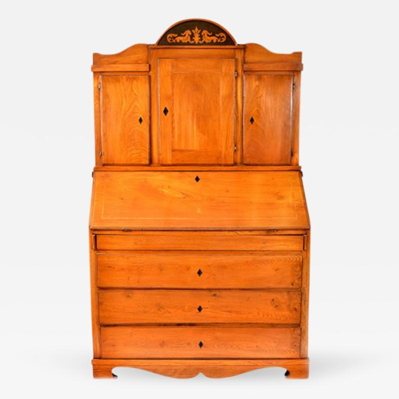 1800s Antique Swedish Secretary Gustavian