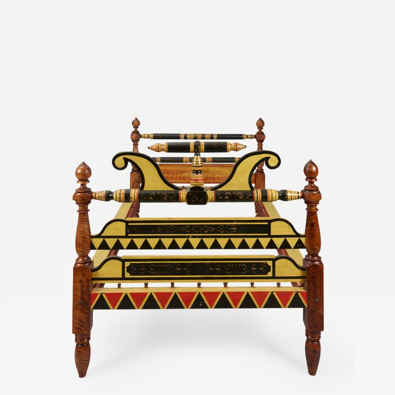 1830 PAINT DECORATED BEDSTEAD