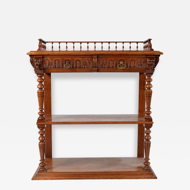 1860s Style French Oak Server Henry II Style