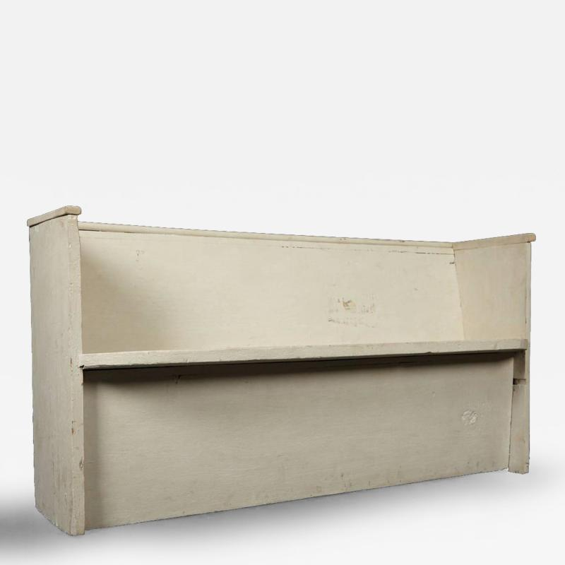 1890s White Washed Church Pew