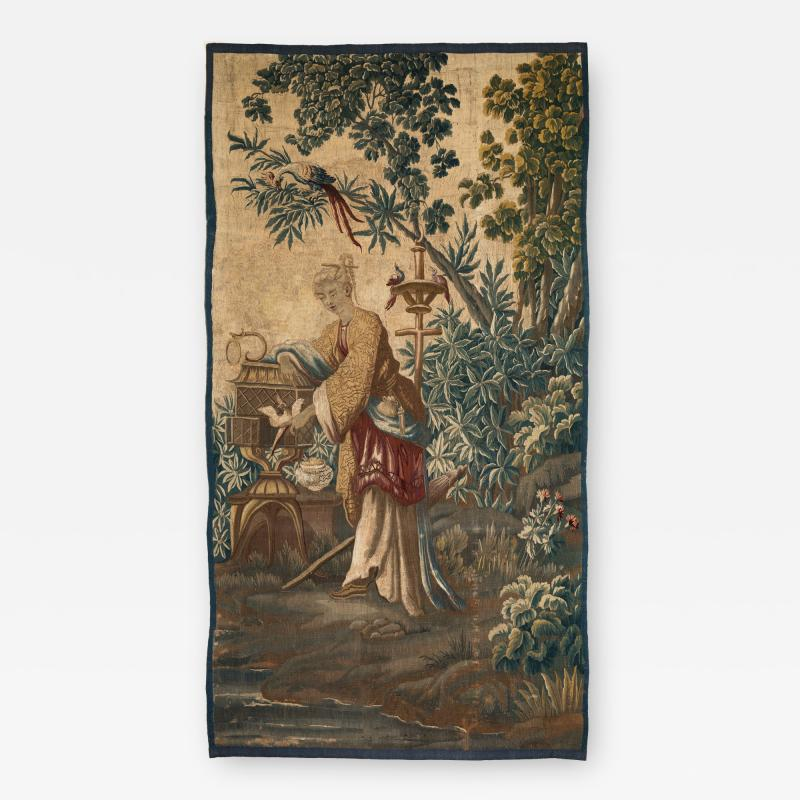 18TH CENTURY LOUIS XV AUBUSSON CHINOISERIE TAPESTRY