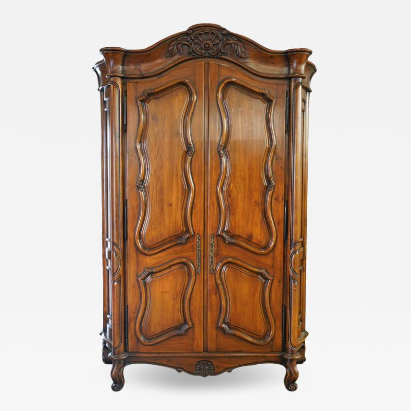 18th C Style Gregorius Pineo Italian Country Style Linen Press Armoire