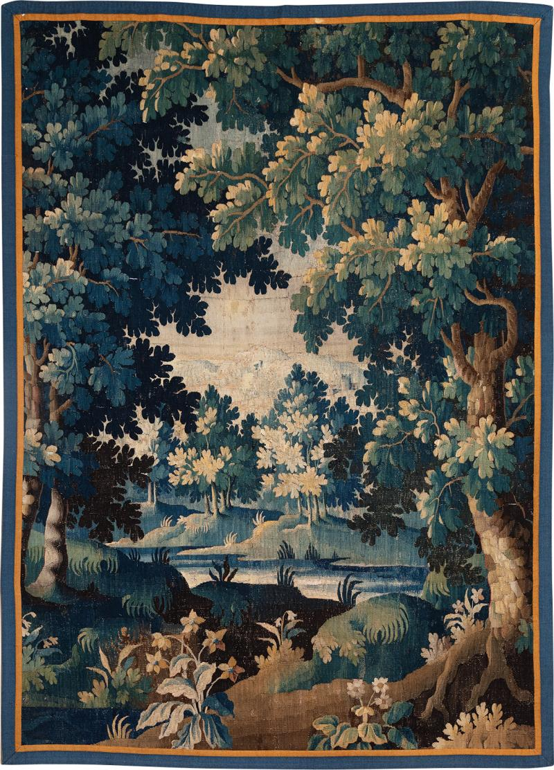 18th CENTURY AUBUSSON VERDURE TAPESTRY