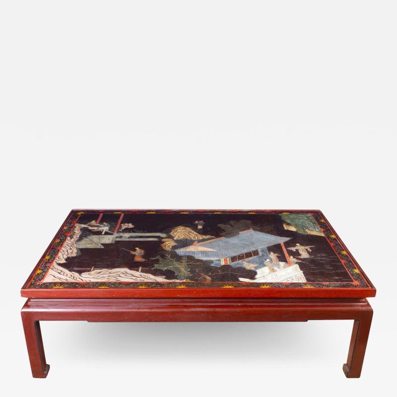 18th Century Coromandel Screen Large Chinese Coffee Table