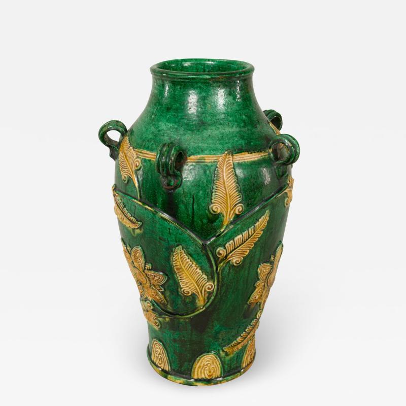 18th Century Japanese Gennai Ware Vase