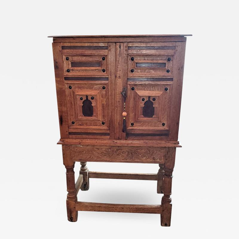 18th Century Mexican Texas Bargueno Style Chest on Stand Important