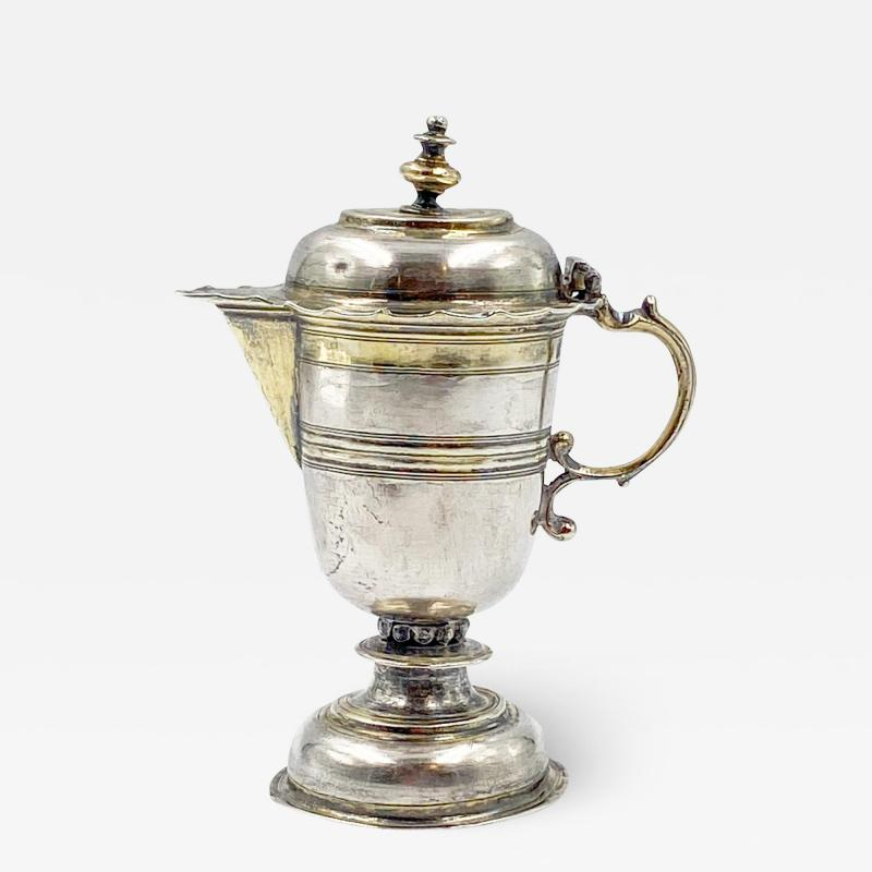 18th Century Small Silver and GIlt Pitcher