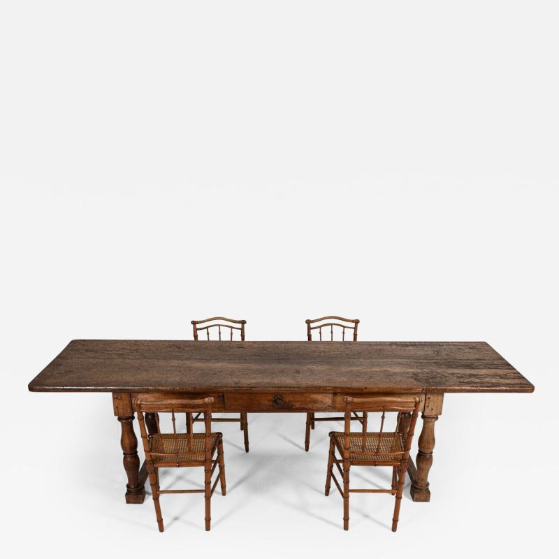 18thC Large French Walnut Drapers Table