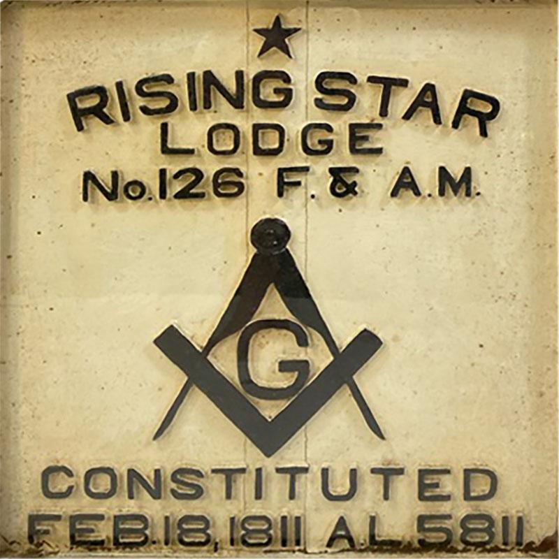 1900S MASONIC LODGE SIGN