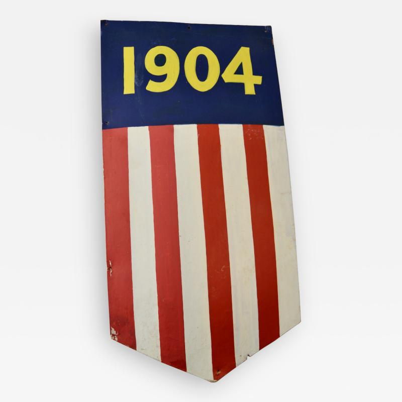 1904 Teddy Roosevelt President Inaugural Shield Rare