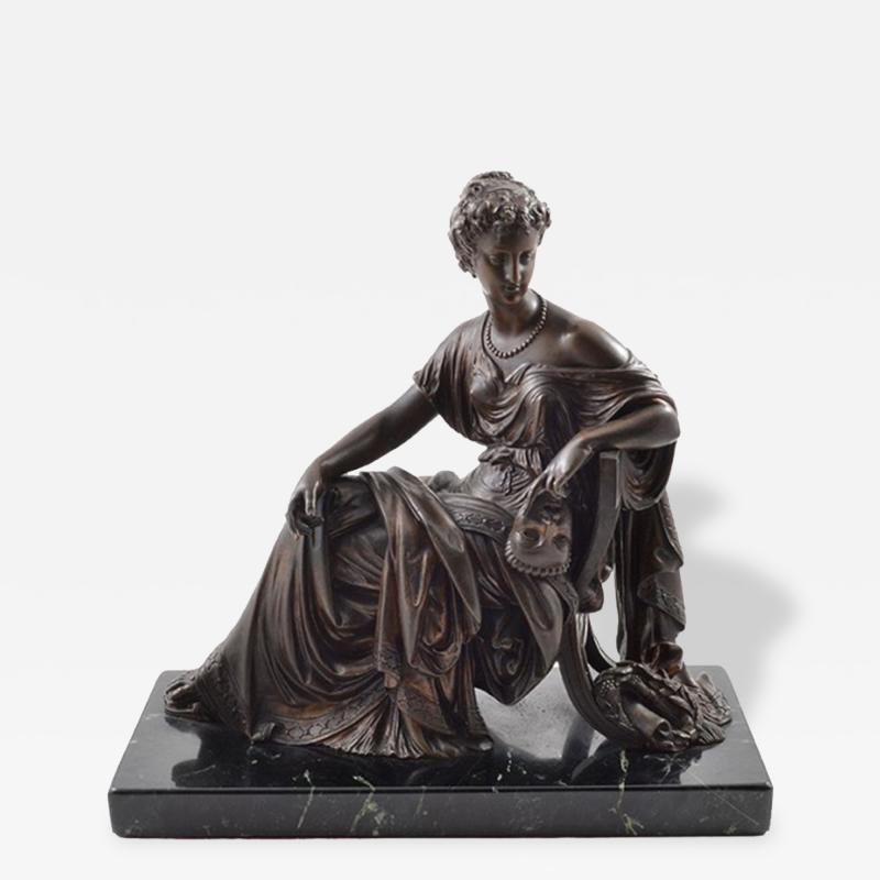 1910 Bronze Mask of Tragedy By Leon Pilet France 1839 1916