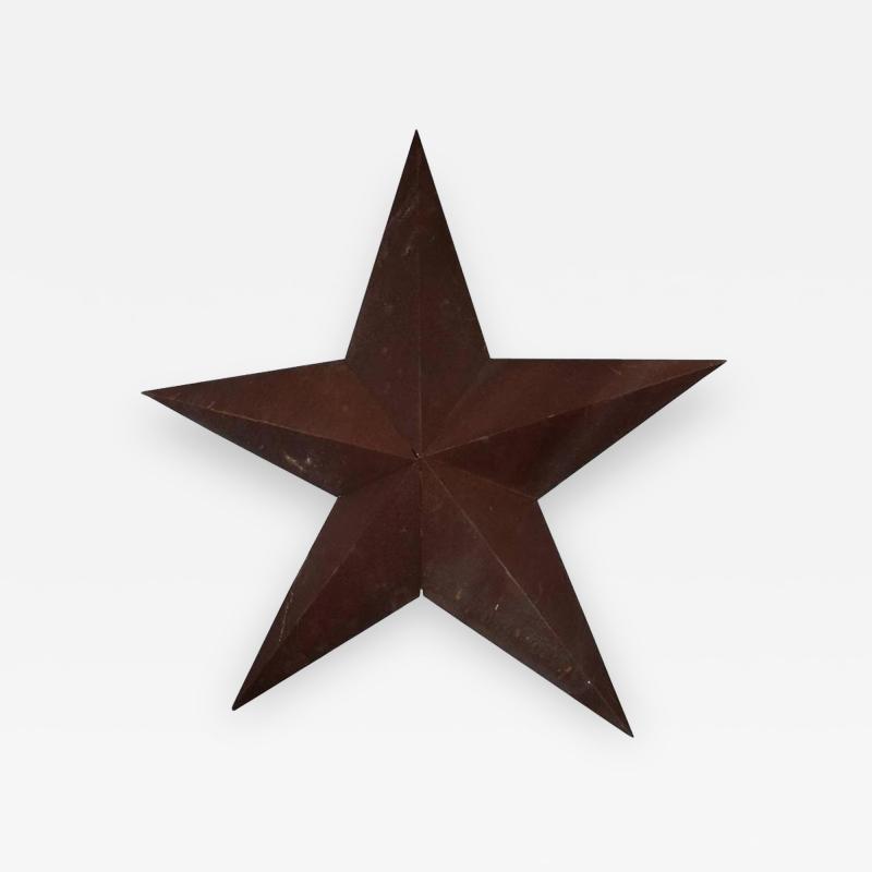 1930s American Folk Art Metal Star Sculpture