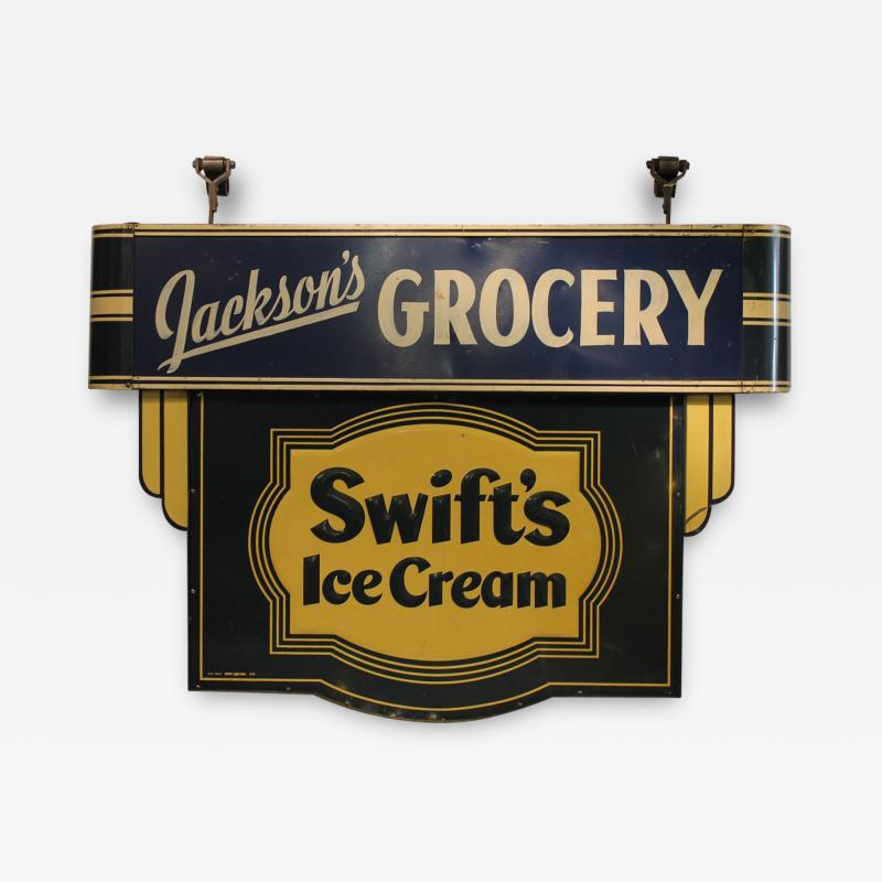 1930s Double Sided Swifts Ice Cream Sign