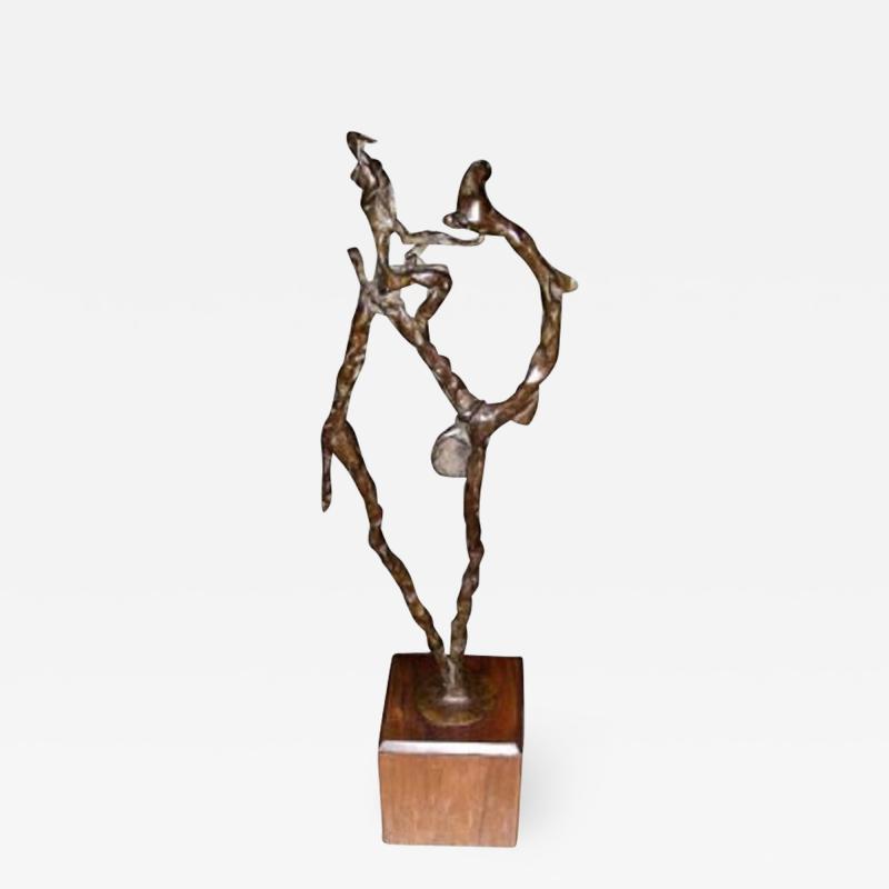 1940 1950 bronze statue of a meharist