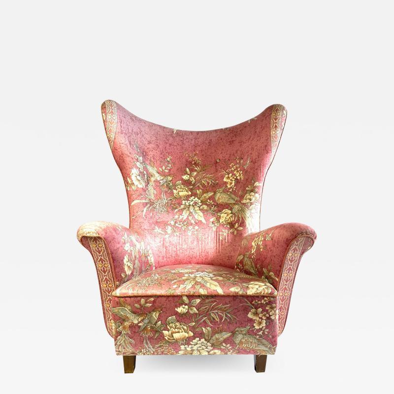 1940s Danish Wingback Chair