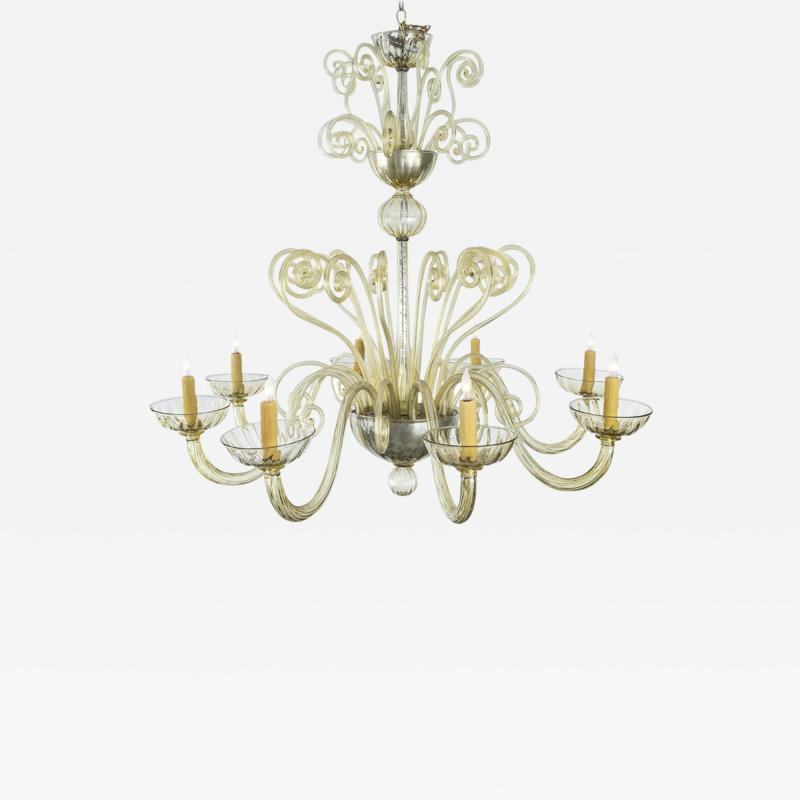 1940s Murano Glass Chandelier