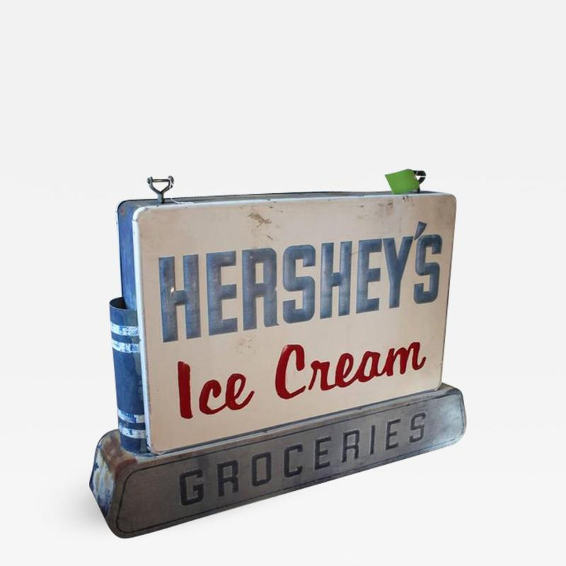 1950s Double Sided Hersheys Ice Cream Sign