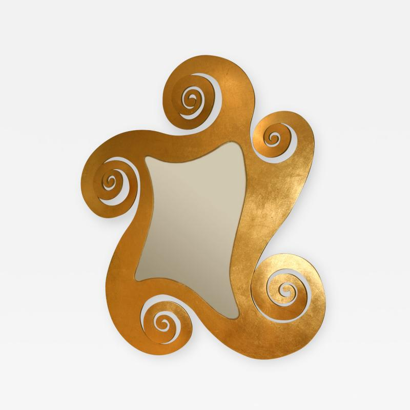 1950s French gilded swirl mirror