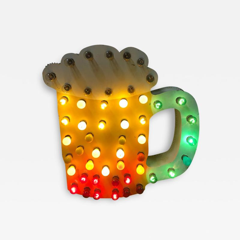 1950s Light Up Double Sided Beer Mug Sign
