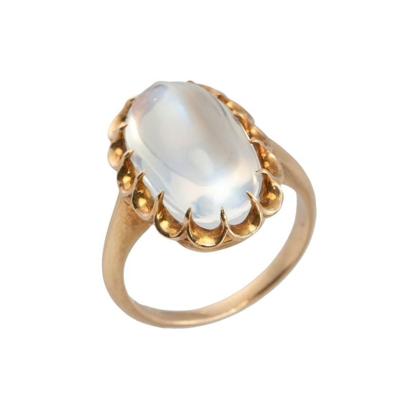 1950s Moonstone Gold Ring