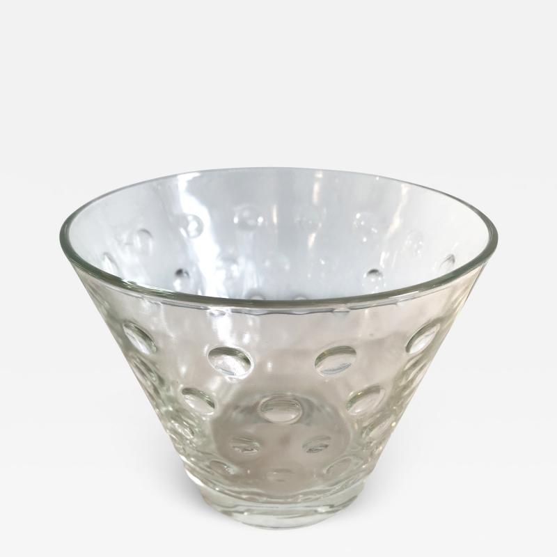 1950s Scandinavian clear glass vase