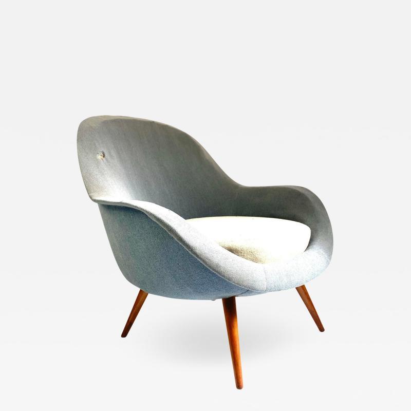 1950s Vintage Scandinavian Lounge Chair