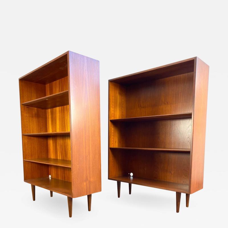 1960s Danish Modern Teak Bookcases a Pair