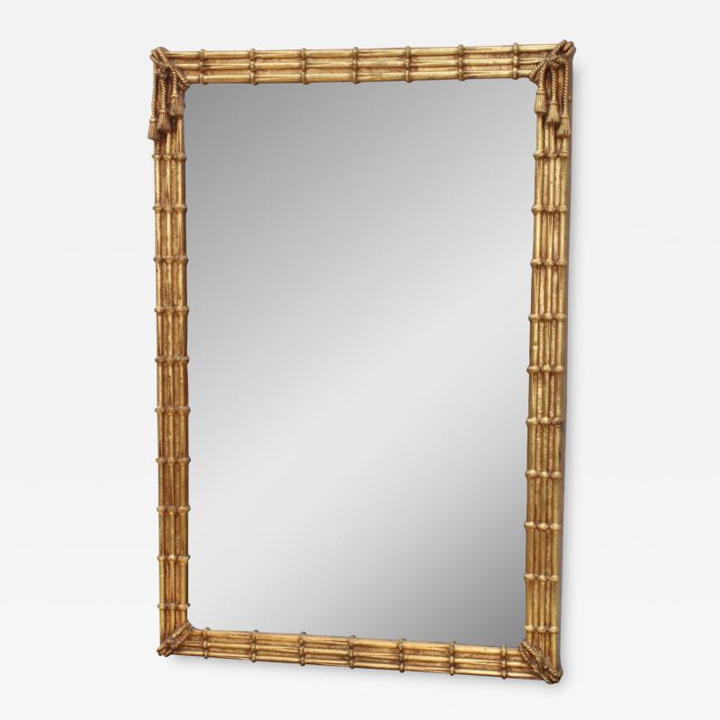 1960s Faux Bamboo Gilt Mirror