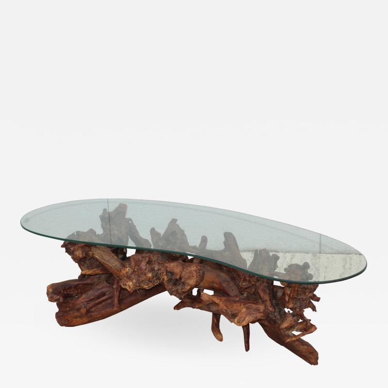 1960s Kidney Shape Drit wood Coffee Table
