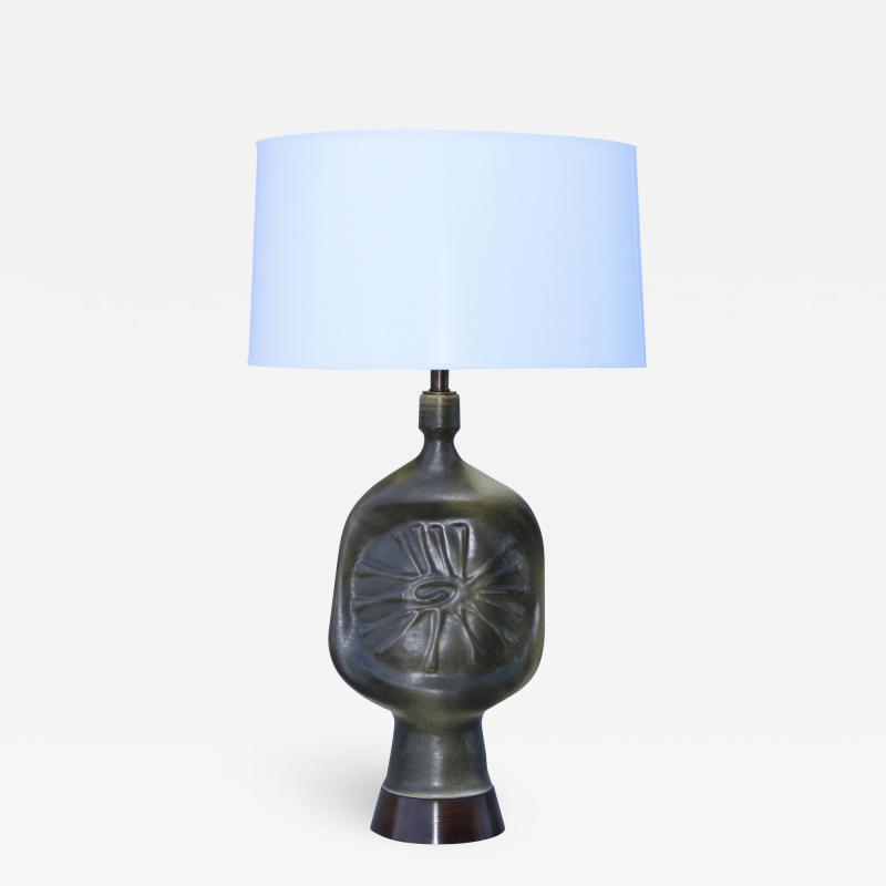 1960s Modernist French Pottery Table lamp