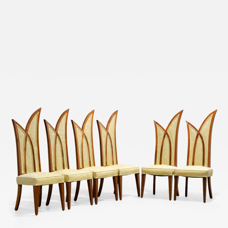 1960s Palm Form Dining Chairs Set of 6