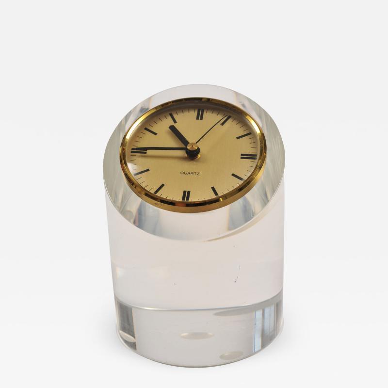 1970s American lucite clock