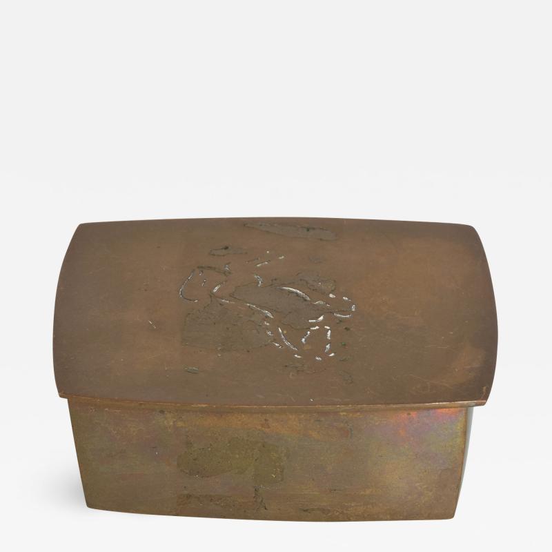 1970s Bronze Box Keepsake California Original by Chinese Artist Wah Ming Chang