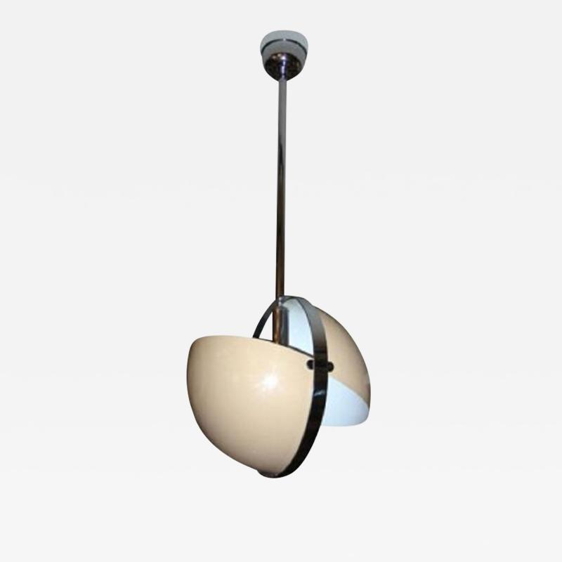 1970s Italian spherical suspension in lacquered t le and chromed metal