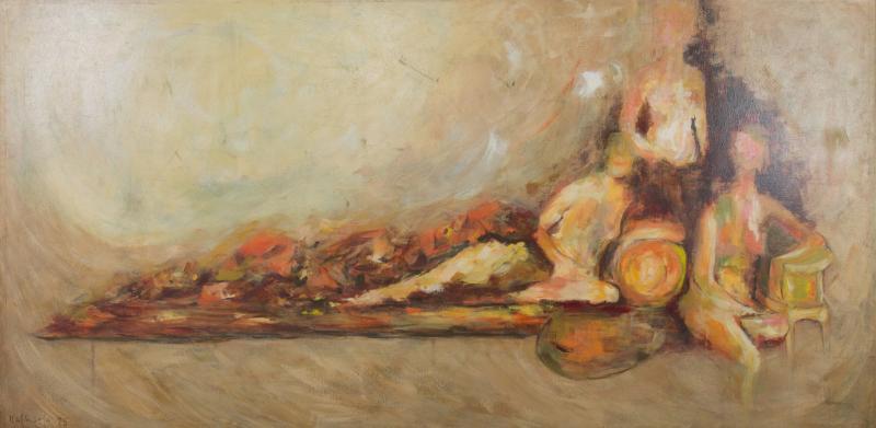 1970s Rafaella Krist Neo Renaissance Painting