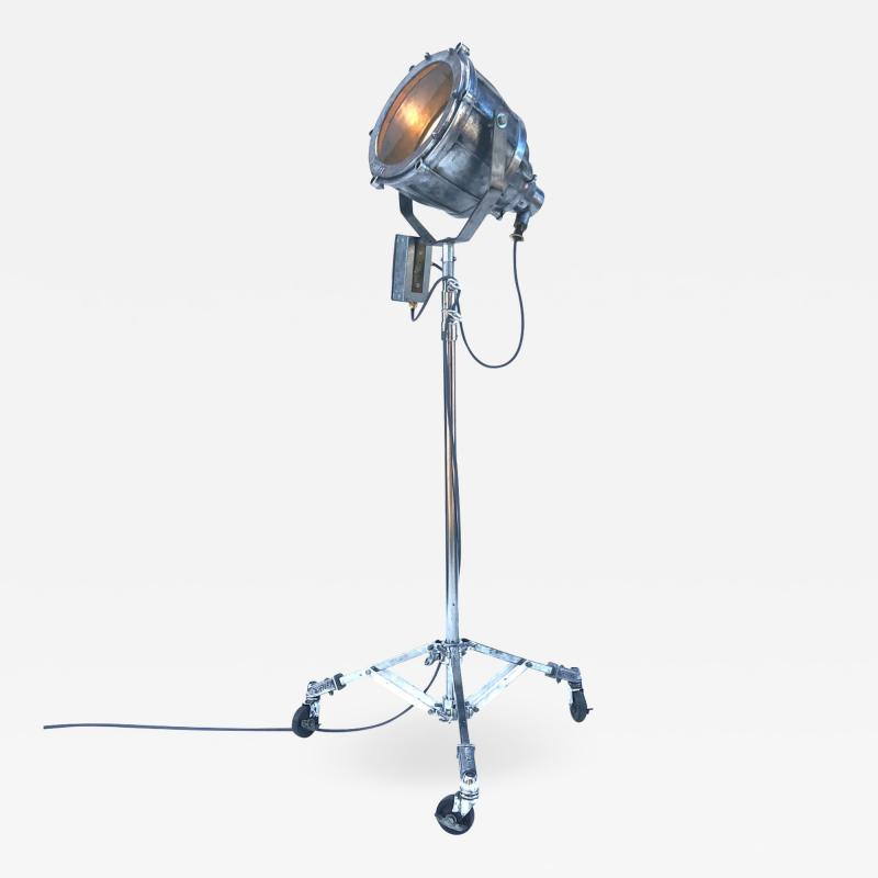 1980s Explosion Proof Aluminium Floor Lamp