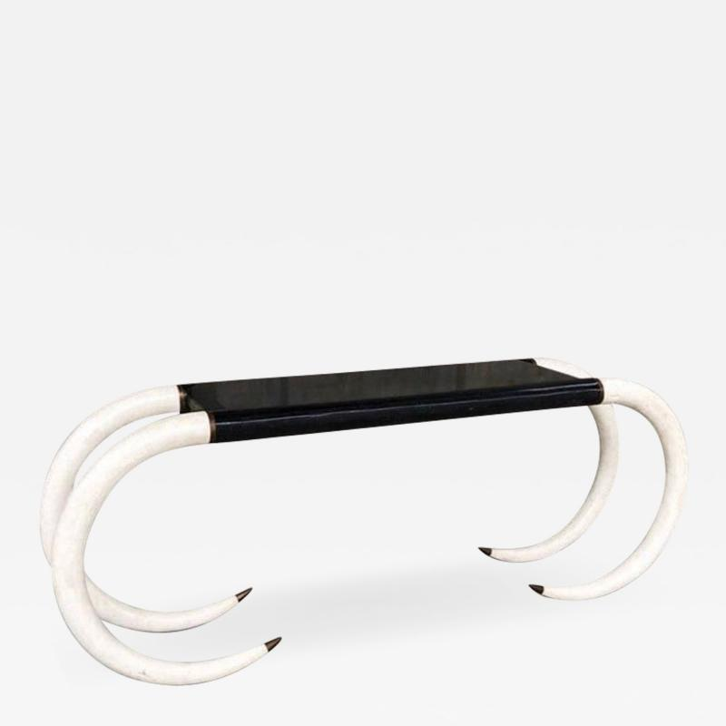 1980s Modern Console Table by Maitland Smith
