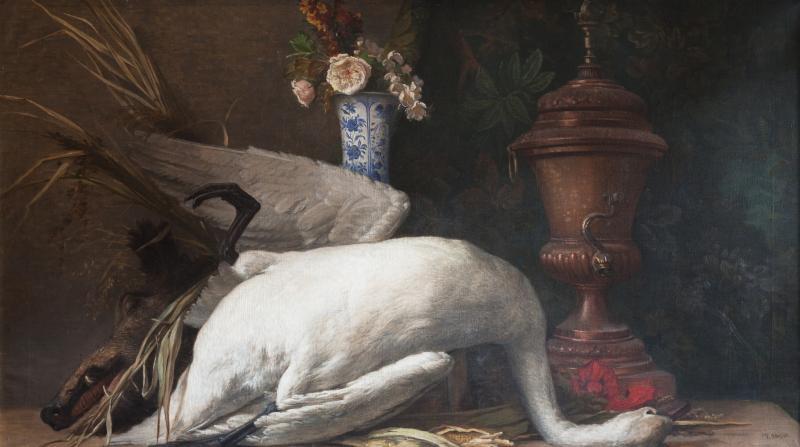 19TH CENTURY STILL LIFE OF A SWAN