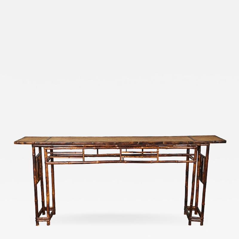 19th C Chinese Bamboo Console Table