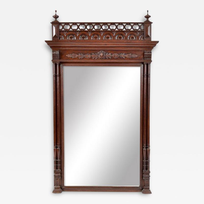 19th C French Henry II Beveled MIrror