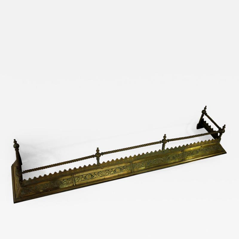19th Century Aesthetic Movement Brass Fender