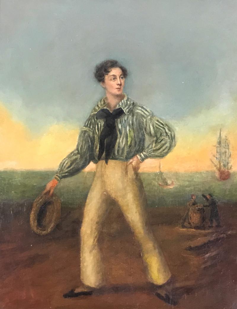 19th Century Danish Dandy Coastal Scene o c