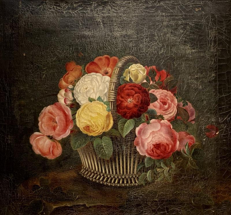 19th Century Danish Floral O C Johan Laurentz Jensen School