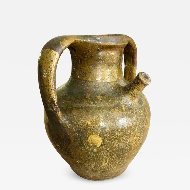 19th Century French Stoneware Wine Jar
