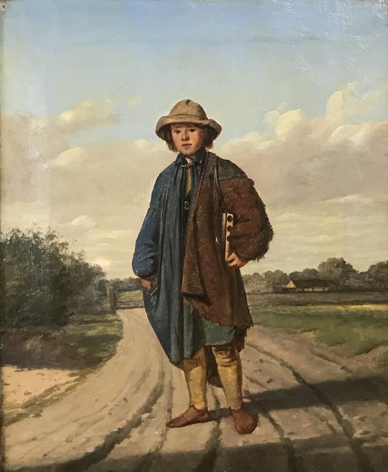 19th Century Portrait of a Country Boy Rodent Catcher