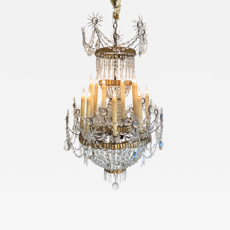19th Century Russian Crystal Chandelier