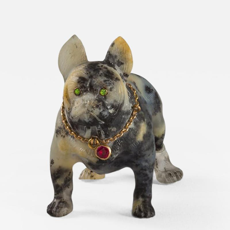 19th Century Sculpture of a French Bulldog
