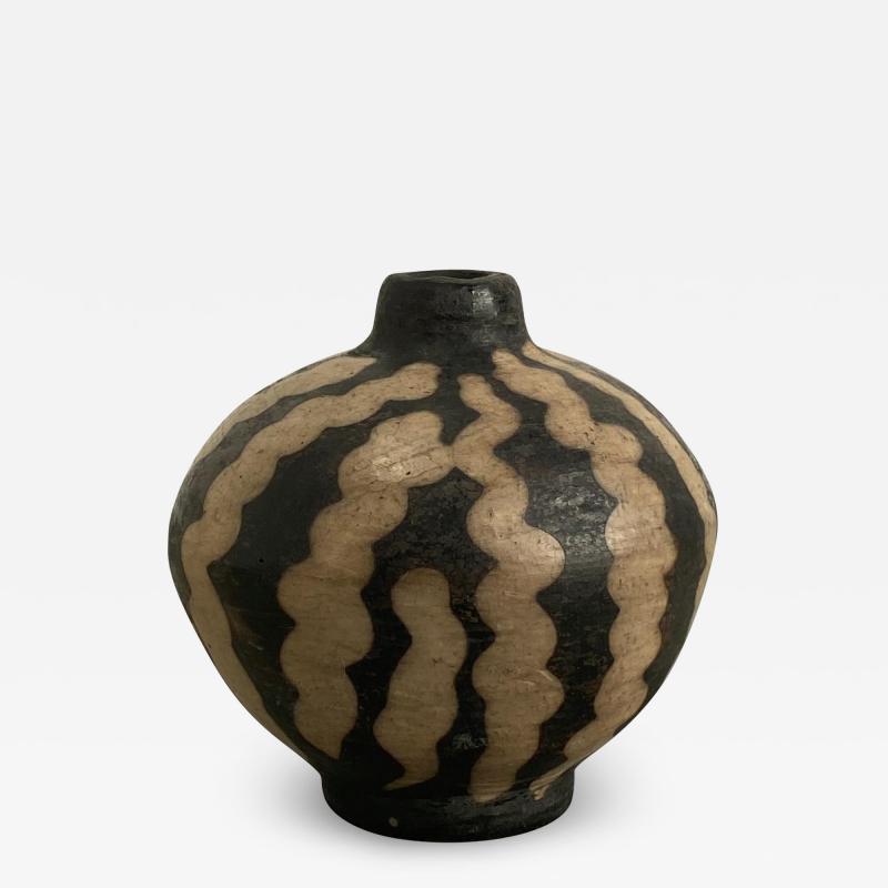 19th Century Small Vase Slip Decorated Vase
