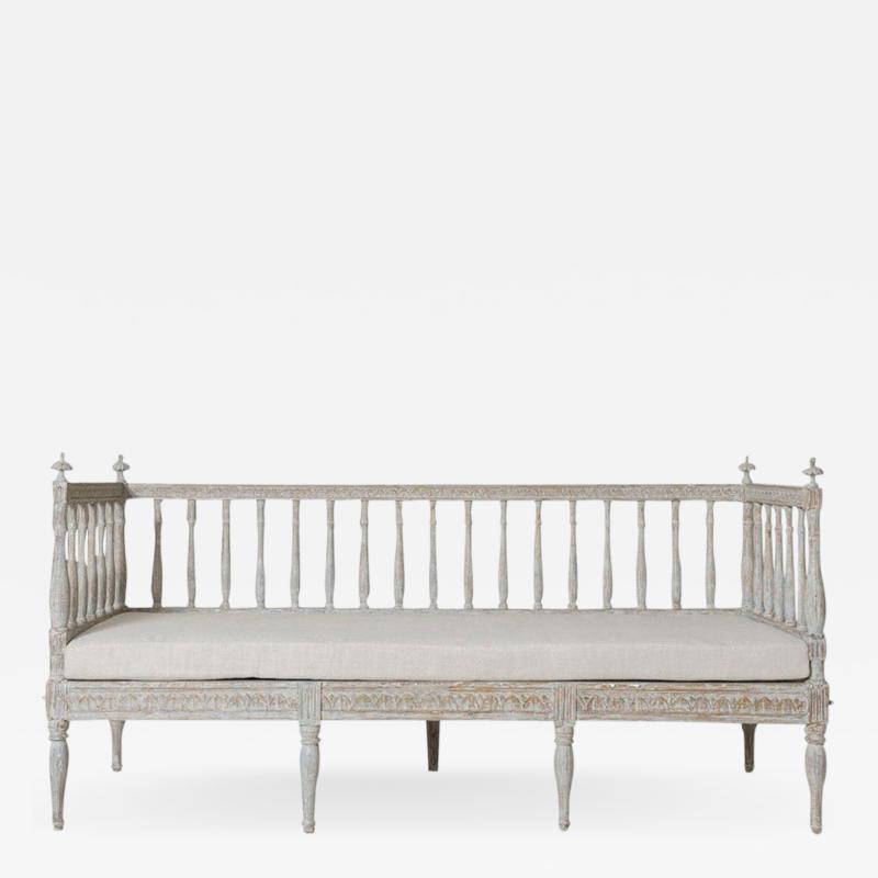 19th Century Swedish Gustavian Period Sofa Bench