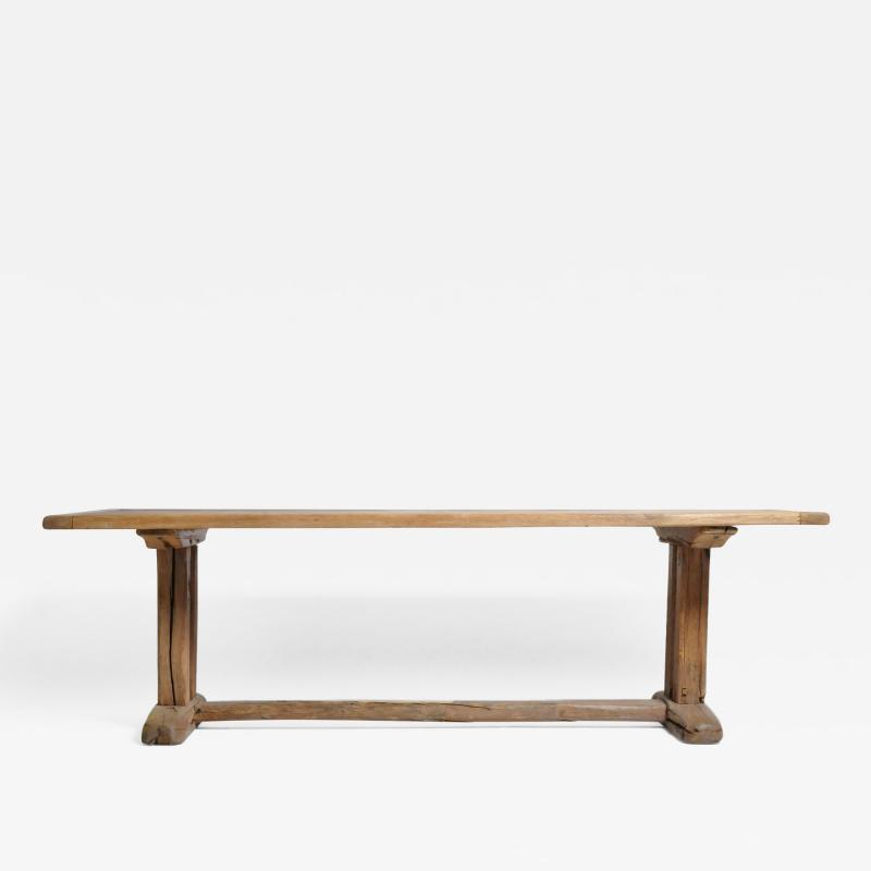 19th Century Swiss Oakwood Farm Table